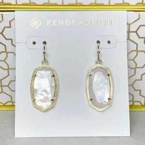 New Kendra Scott Dani In Gold Ivory Pearl
